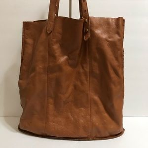 Madewell Brown Soft Leather Tote Handbag